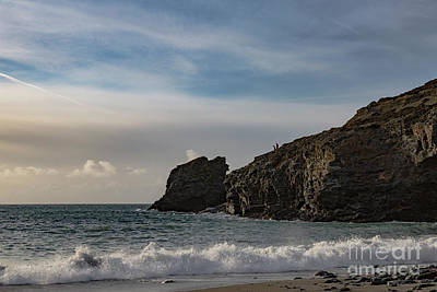Poster featuring the photograph Trevellas Cove Cornwall by Brian Roscorla
