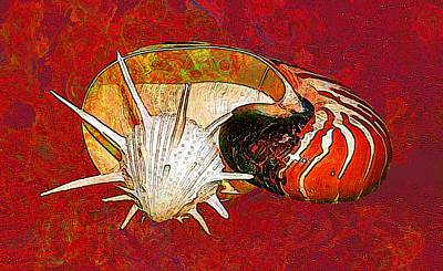 Underwater. Sea Shells. Poster