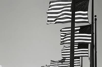 United States Flag Poster by Brandon Bourdages