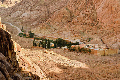 View At St. Catherine's Monastery From Monks Path Poster by Khristina Ripak