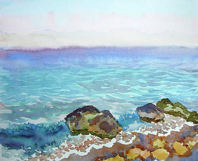 Watercolor Seascapes Poster