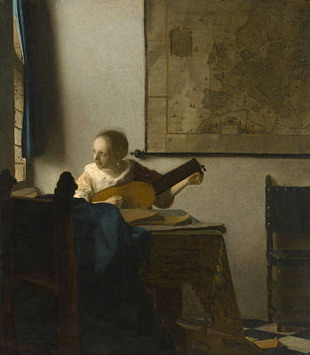 Woman With A Lute Poster by Johannes Vermeer