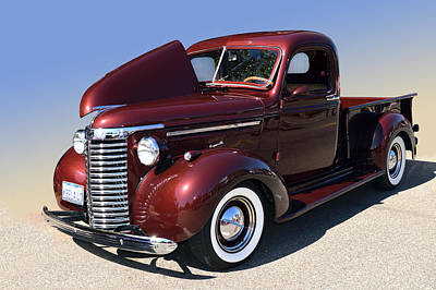40 Chev Pickup Poster by Bill Dutting