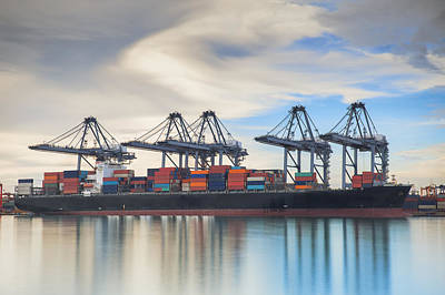 Container Cargo Freight Ship  Poster