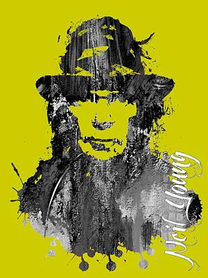 Neil Young Collection Poster by Marvin Blaine