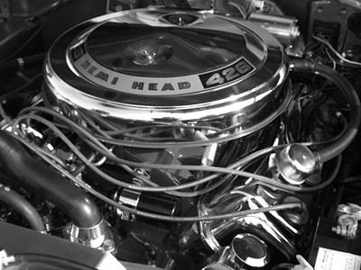 426 Hemi Black And White Poster by Chad Thompson