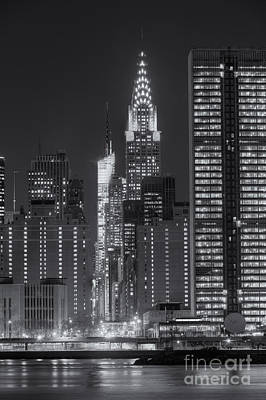 42nd Street Buildings At Twilight II Poster by Clarence Holmes