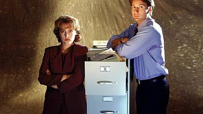 43385 Fox Mulder Dana Scully The X Files David Duchovny Gillian Anderson Arms Crossed Arms On Chest Poster