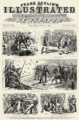 Great Railroad Strike, 1877 Poster by Granger