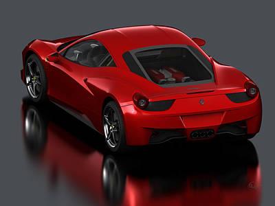 458 Ferrari Poster