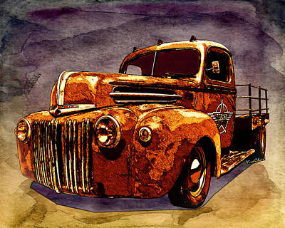 46 Ford Flatbed Redux From The Laboratories At Vivachas Poster