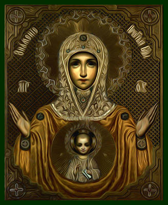 Madonna Enthroned Poster