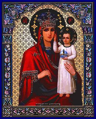 Virgin And Child Poster by Christian Art