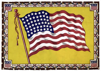 48 Star United States Flag 1912 Poster by Daniel Hagerman