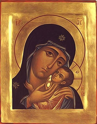 Virgin And Child Painting Poster by Christian Art