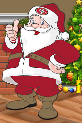49ers Santa Claus Poster