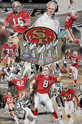 49ers Tribute Poster by Joshua Jacobs