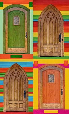4 Colorful Doors Poster by Art Spectrum