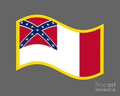 3d Confederate Flag Poster
