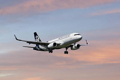 Air New Zealand Airbus A320 Poster