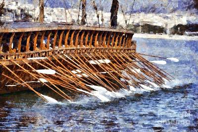 An Ancient Trireme Underway Poster
