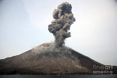 Ash Cloud From Vulcanian Eruption Poster