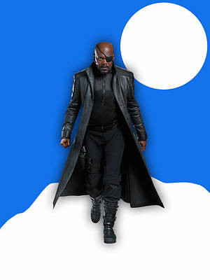 Avengers Nick Fury Collection Poster by Marvin Blaine