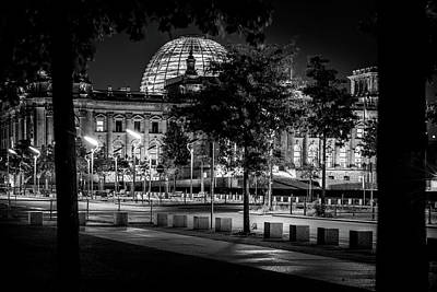 Berlin At Night - Reichstag Poster