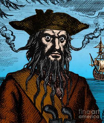 Blackbeard Edward Teach English Pirate Poster by Science Source
