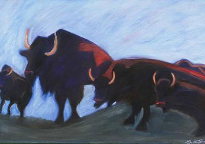 5 Buffalo Poster by Liz Palumbo