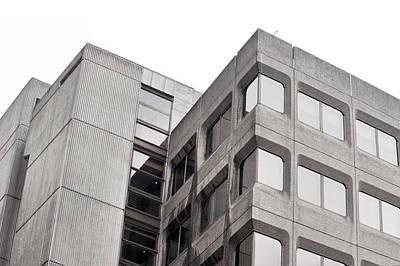 Concrete Building Poster by Tom Gowanlock