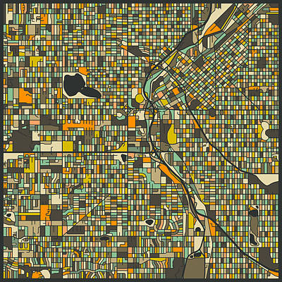 Denver Map Poster by Jazzberry Blue