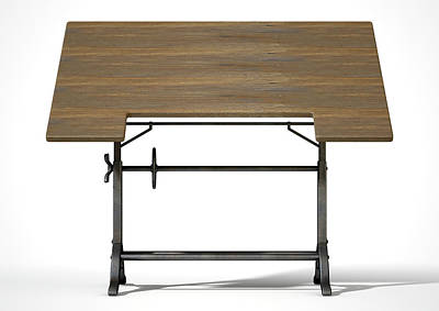 Drafting Table Poster by Allan Swart