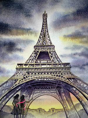 Eiffel Tower Paris Poster by Irina Sztukowski
