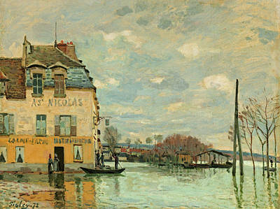 Flood At Port-marly Poster by Alfred Sisley