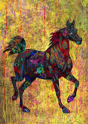 Horse Poster by Elena Kosvincheva