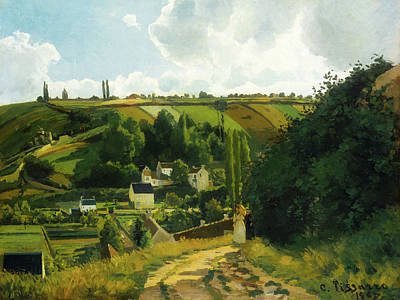 Jalais Hill - Pontoise Poster by Camille Pissarro