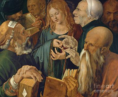 Jesus Among The Doctors Poster by Albrecht Durer