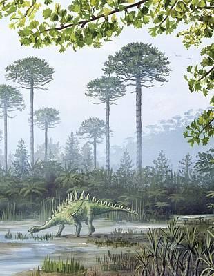Jurassic Life, Artwork Poster by Richard Bizley