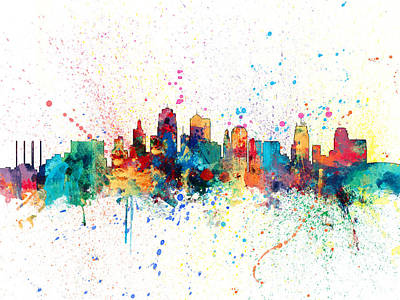 Kansas City Skyline Poster