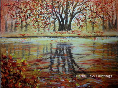 Landscape Painting Poster by MadhuRavi Paintings