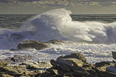 Large Waves Near Pemaquid Point On The Coast Of Maine Poster by Keith Webber Jr