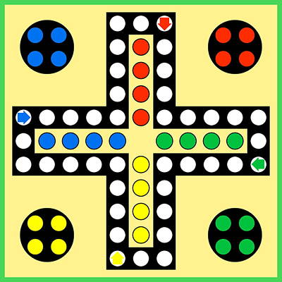 Ludo Board Game Poster