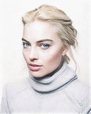 Margot Robbie Painting Poster