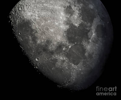 Moon - Close Up Of Craters Lunar Surface Poster