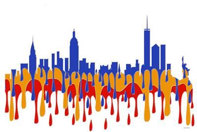 New York Ny Skyline Poster by Marlene Watson