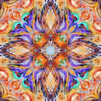 Night Party Mandala Poster by Sandrine Kespi