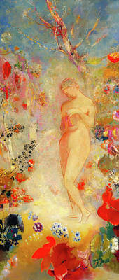 Poster featuring the painting Pandora by Odilon Redon