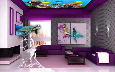 Rooftop Saltwater Fish Tank Art Poster