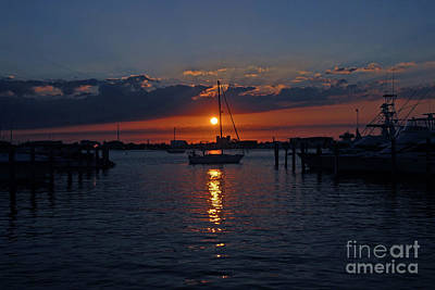 Poster featuring the photograph 5- Sailfish Marina Sunset In Paradise by Joseph Keane